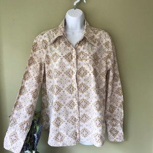 Old Navy Retro Medallion Print Button Front Shirt